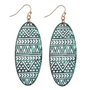 NWT***BOUTIQUE***   TURQUOISE DROP EARRINGS